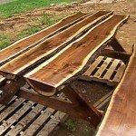 A Beautiful, Rustic Picnic Table So Easy Anyone Can Make It