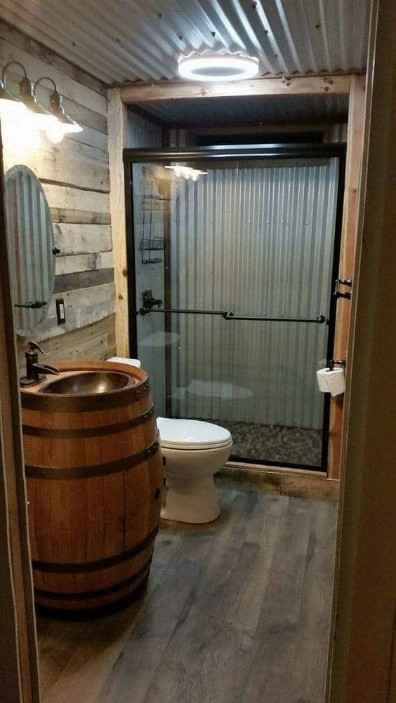 Complete your garage living space with a functional bathroom for Half bathroom cost