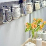 Creative Bathroom Organization With Mason Jars