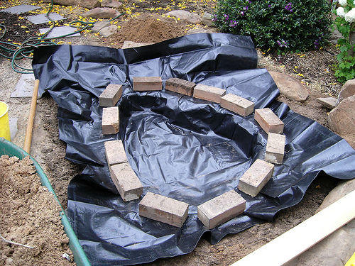 Easy diy pond instructions for your garden for Diy cheap pond liner