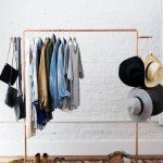 Easy Assembly Copper Clothes Rack