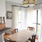 Practical, Economical, Chic Drop Cloth Curtains