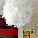 A Taste for the Exotic Feather Lampshade