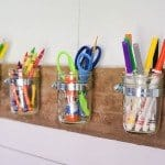 Space Saving Mason Jar Organizer