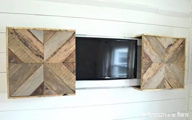 Eye Appealing Wood TV Cover - KnockOffDecor.com