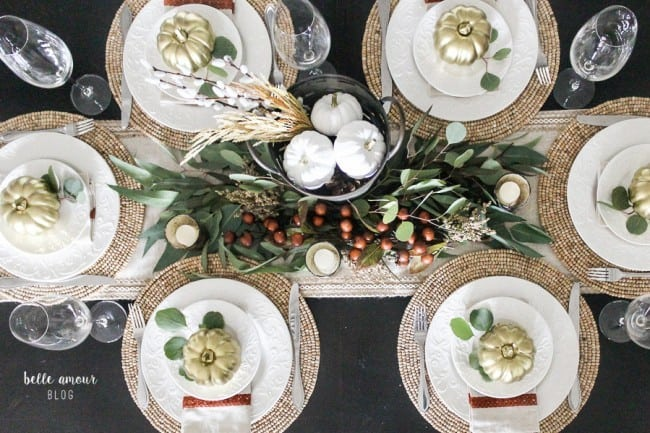 Overhead view of the tablescape.