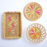Yarn Embroidered Basket Decoration