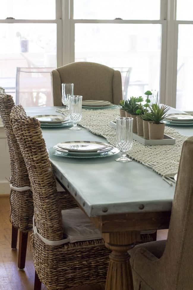 One Of The Largest Furniture Items In Your Home May Be Kitchen Table Sherry From Savvy A Wanted Zinc Top