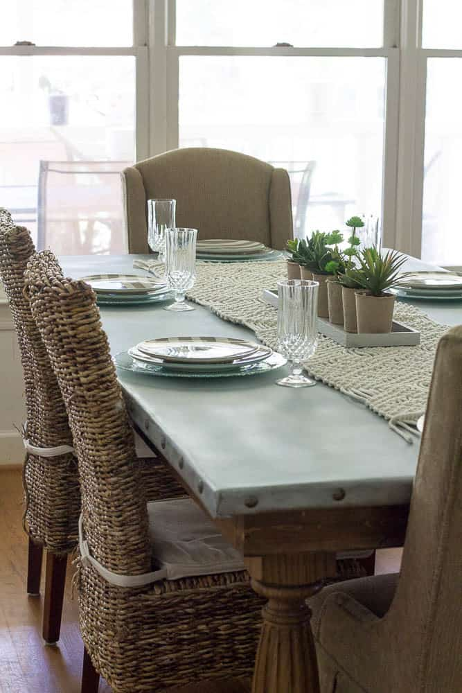 relaxed sophistication zinc table top  knockoffdecor