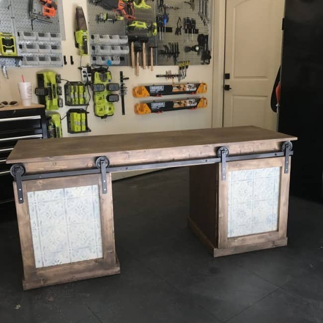 The desk adds a warm rustic feel which will work very nicely in a modern farmhouse country or rustic decor. With good materials and the proper tools ... & Sturdy Rustic Barn Door Desk
