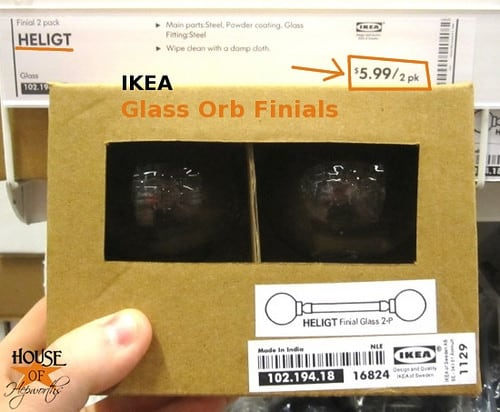 Ikea finials