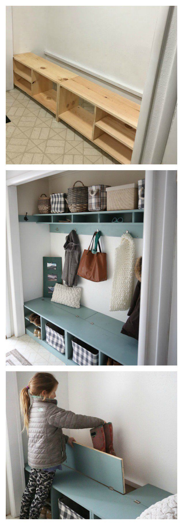 Foyer Closet Crossword : A better mudroom solution