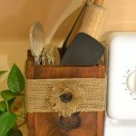 Rustic Utensil Box