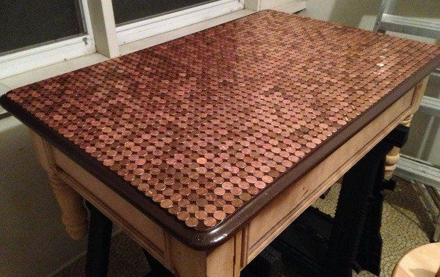 Unusual Penny Table Top Knockoffdecor Com