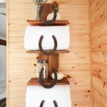 Rustic Decor Horseshoe Shelf