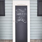 Fun, Functional, Chalkboard Door