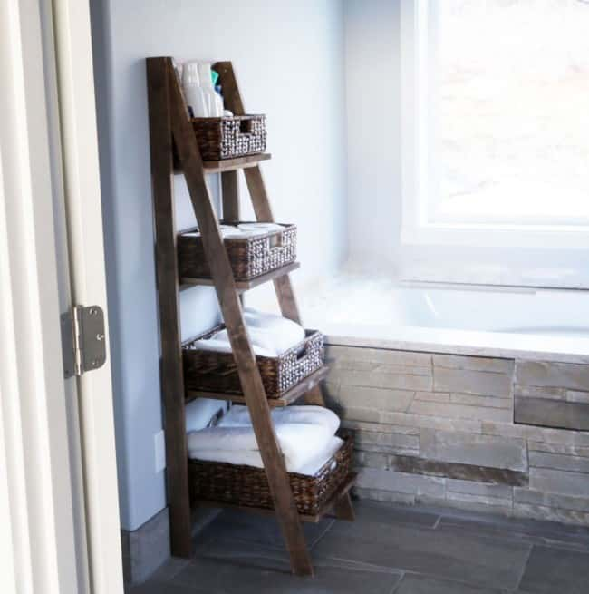 Attractive With Step By Step Instructions And Ana Explains That You Will Want To Stain  The Wood Prior To Screwing It Together. She Used Finished Pine For Her  Ladder, ...
