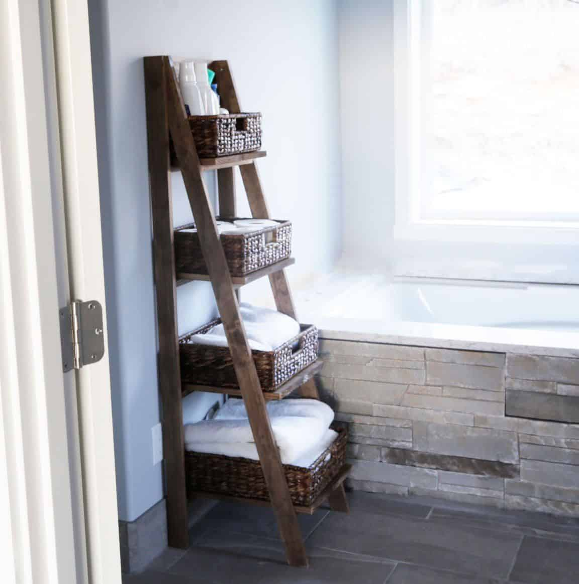Bathroom Storage Ladder Knockoffdecor Com