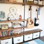 DIY Industrial Shelving From Pipes