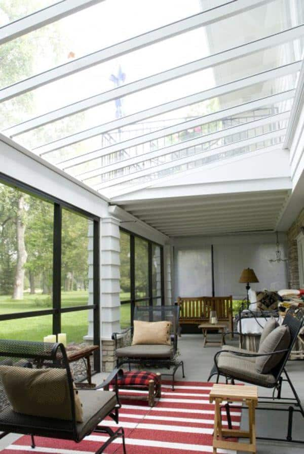 Skylighted sunroom
