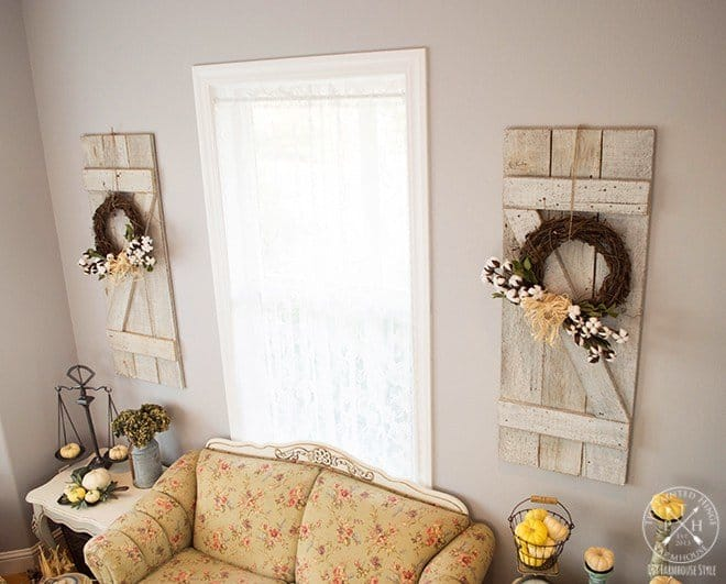 Wooden Shutter Wall Decor Knockoffdecor Com