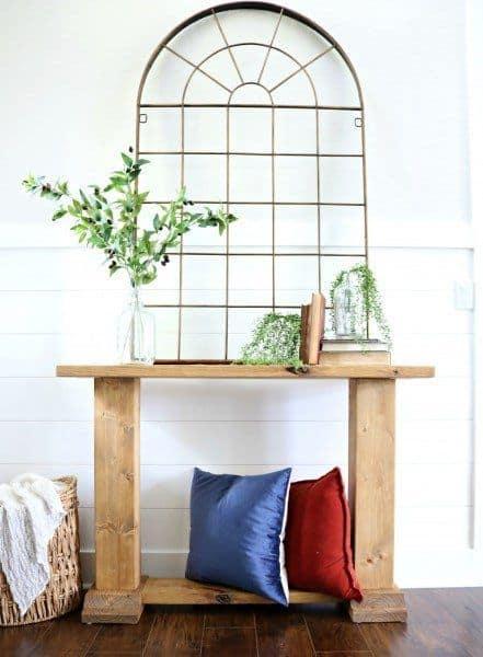 DIY Trestle Entry Table