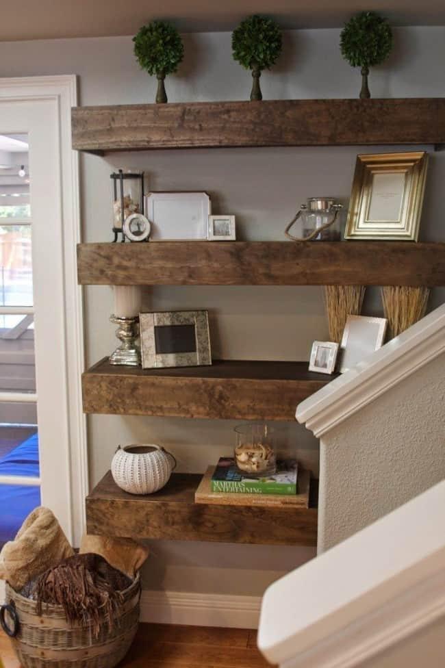 inspiring living room floating shelves | Floating Shelves And Decor Ideas - KnockOffDecor.com