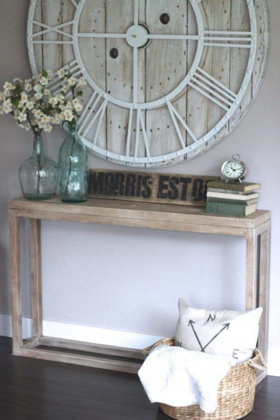Barn Wood Refinish Sofa Table Knockoffdecor Com