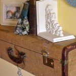 Vintage Suitcase Turned Into A Wall Shelf