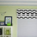 Add Some Color Faux Roman Shade