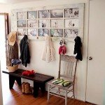 Repurpose An Old Door Into A Photo Coat Rack