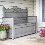 Repurpose An Old Headboard Into An Outdoor Storage Bench