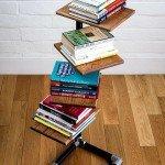 DIY Freestanding Bookshelf Using Plumbing Pipe