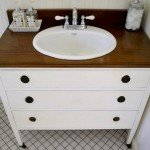 Repurposed Dresser Made Into A Vanity