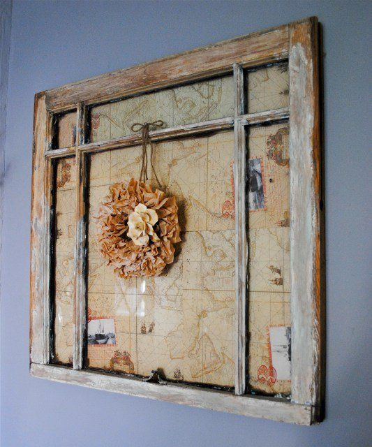 Turn A Vintage Window Into Wall Art Knockoffdecor Com