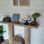DIY Wood Console With Doors