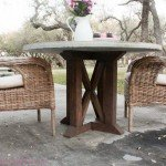 DIY Wood Pedestal Table