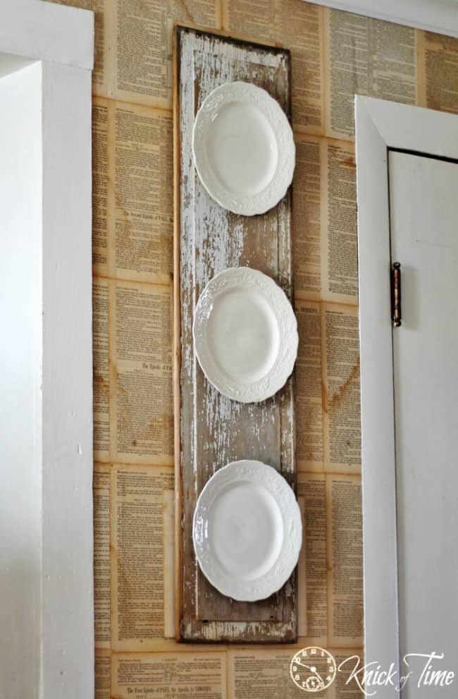 Diy Vintage Plate Display Knockoffdecor Com