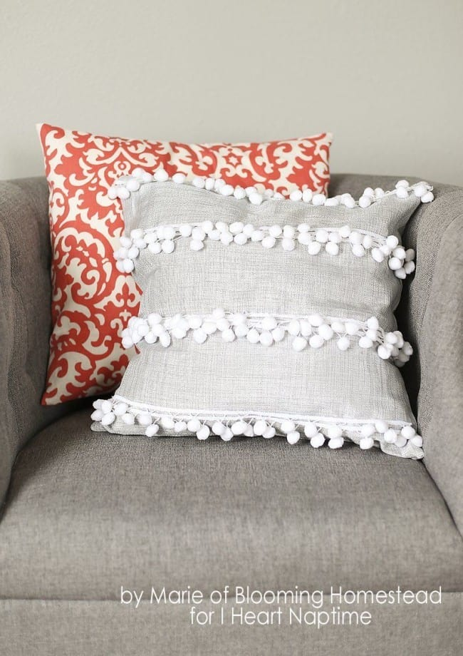 Diy Decorative Pillow Covers : No Sew Pillow Cover
