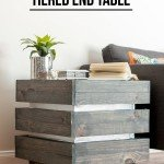 DIY Chunky Wood Side Table