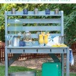 DIY Outdoor Potting Bench/Buffet Table