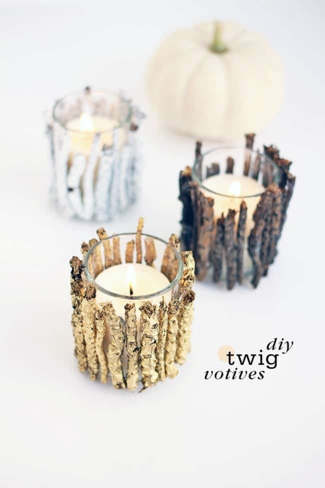 DIY Rustic Votive Holders