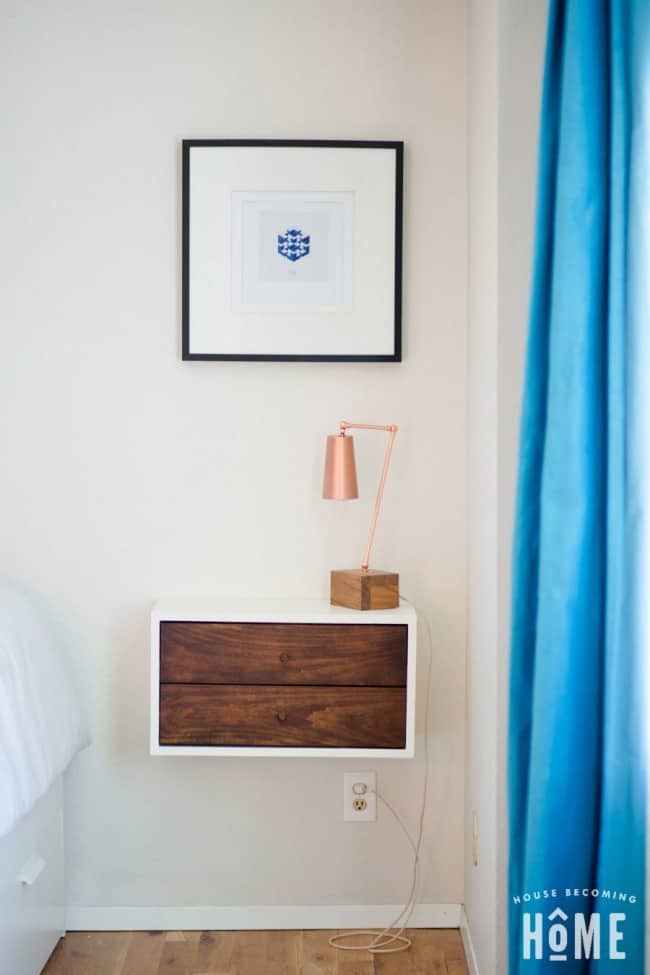 Build Your Own Floating Nightstand