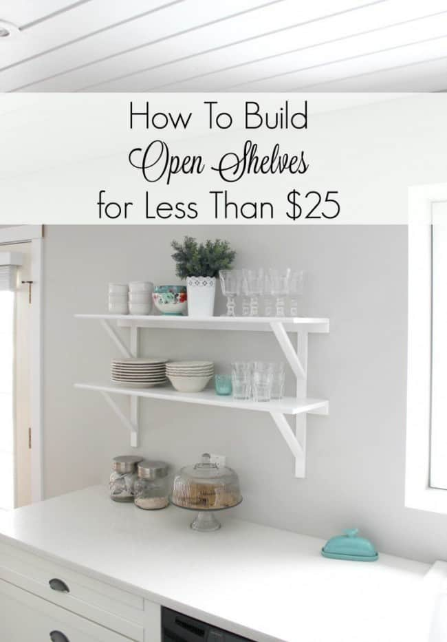 DIY Inexpensive Open Shelves