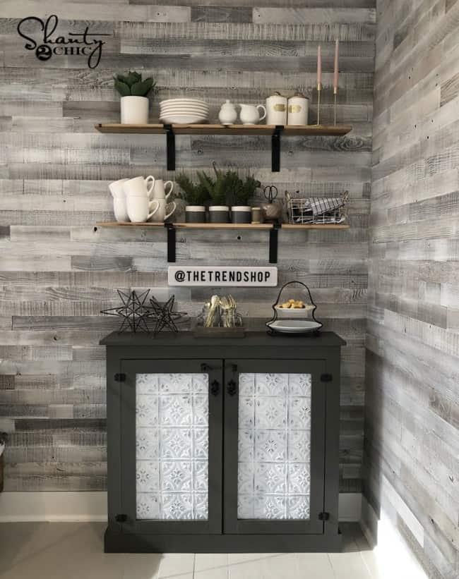 DIY Cabinet With Tin Doors