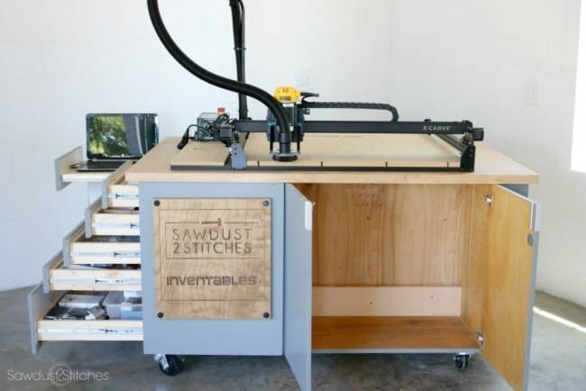 DIY Workstation From Cabinets