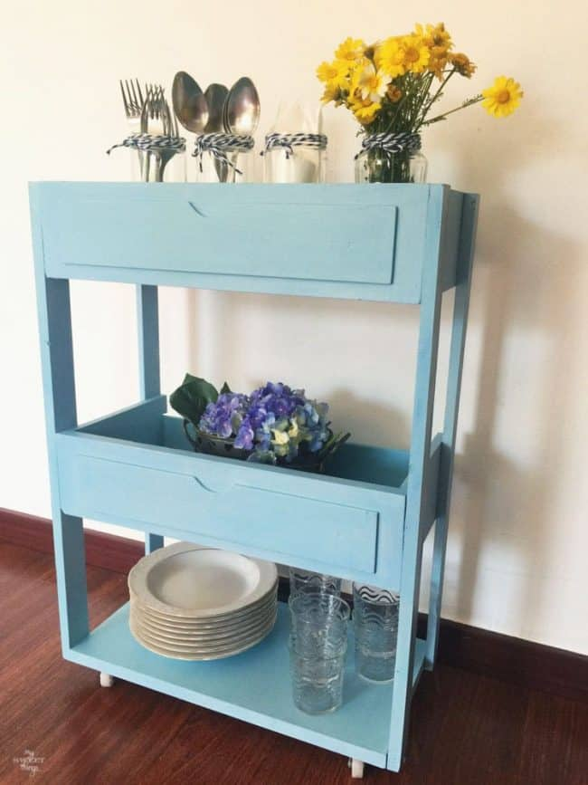 Create A Tiered Rolling Cart