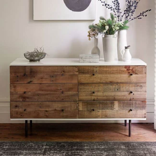 Makeover A Dresser With Barn Wood