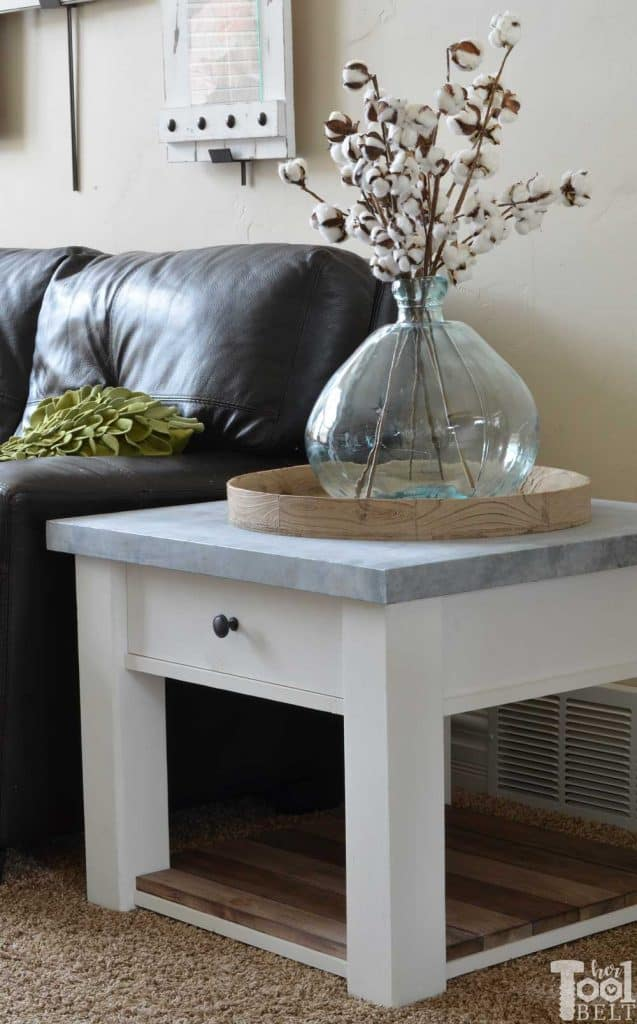 DIY Zinc Top Table