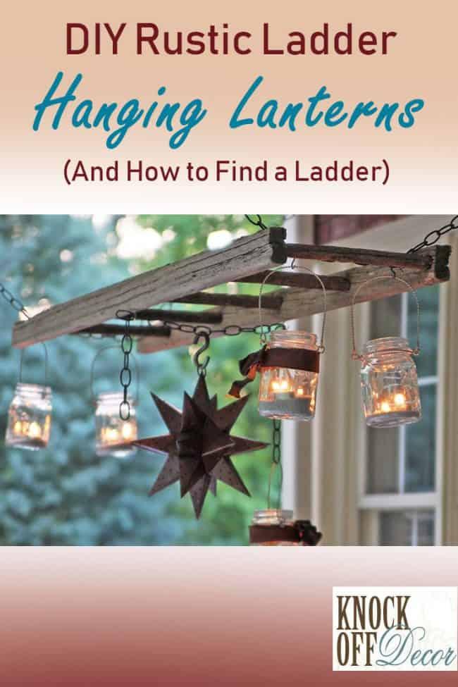 Rustic ladder lantern pin